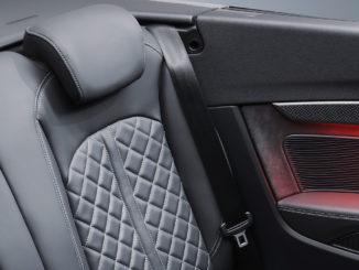 Fond eines Audi S5 Cabriolet mit schwarzem Leder