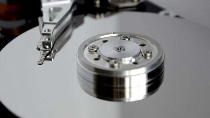 Abbildung einer Festplatte.