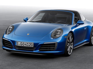 Standbild eines blauen Porsche 911 Targa (991)