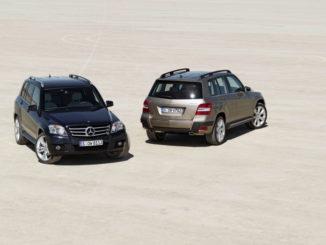 Mercedes-Benz GLK-Klasse: GLK 320 CDI 4MATIC mit Offroad-Styling-Paket und Offroad-Technik-Paket, GLK 350 4MATIC mit Sport-Paket Exterieur und Sport-Paket Interieur.