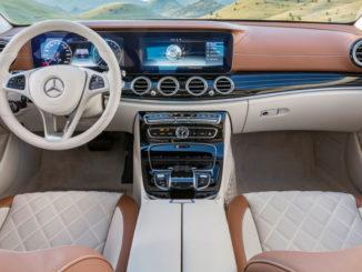 Mercedes-Benz E-Klasse 2016, EXCLUSIVE, kallaitgrün, Leder sattelbraun/macciato