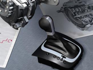 Das 7-Gang Doppelkupplungsgetriebe DSG von Volkswagen, Schaltkulisse mit Wählhebel als Grafik