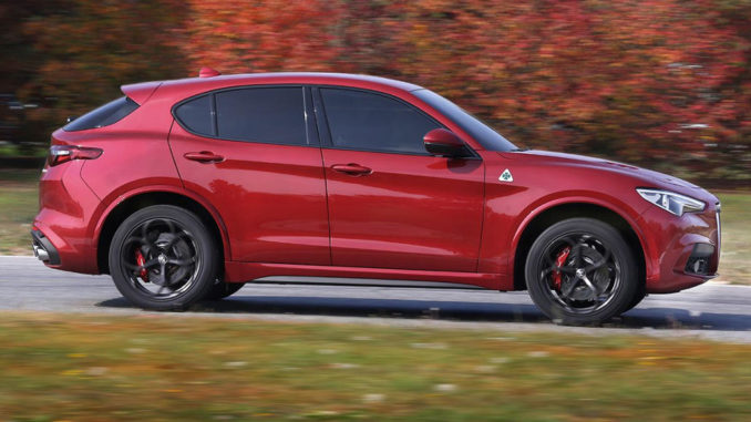 Alfa Romeo Stelvio Quadrifoglio in rostbraun (12/2017)