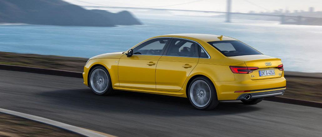03.09.15 Foto Audi A4 2.0 TFSI quattro Fahraufnahme, Farbe: Vegasgelb