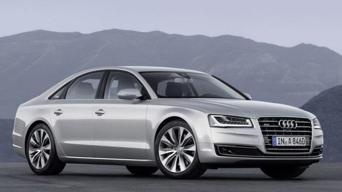 Audi A8 (2013) Standaufnahme Farbe: Florettsilber