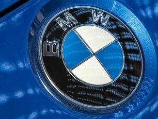 bmw logo auto automobil front metallischen modern