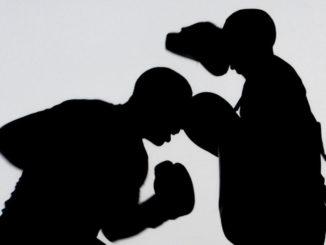 boxen training workout silhouetten übung menschen
