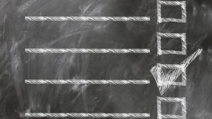checkliste check rechtecke liste linien tafel kreide