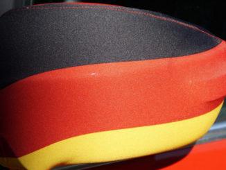 fanartikel deutschland rückspiegel flagge wm