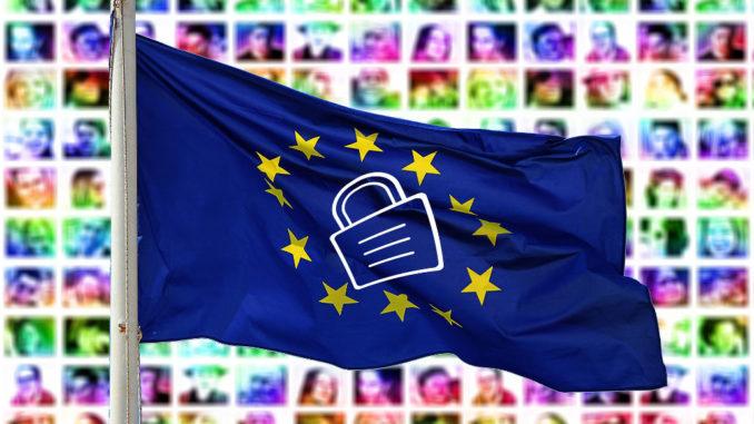 europa flagge schloss datenschutz dsgvo