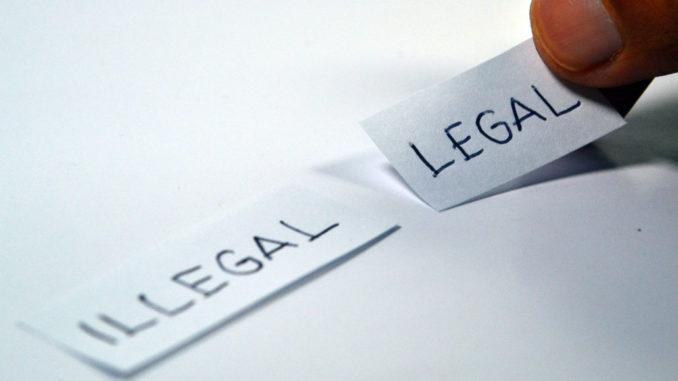 rechtsgrundlage illegal recht wahl antonym