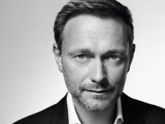 Schwarz-weiß-Aufnahme von Christian Lindner, Bundesvorsitzender der FDP.