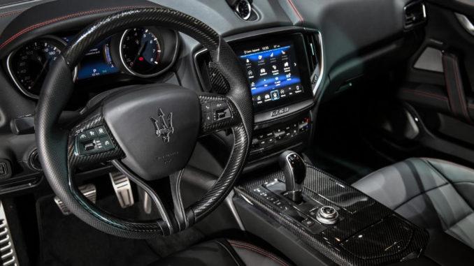 Maserati stand at Geneva Motor Show 2018 Ghibli Nerissimo.