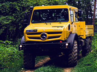 Mercedes-Benz Unimog UHE 5023, golden yellow, crew cab