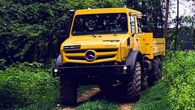 Mercedes-Benz Unimog UHE 5023, golden yellow, crew cab
