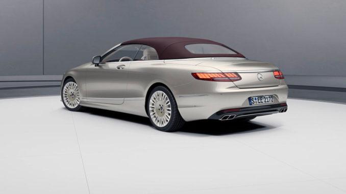 Mercedes-Benz S-Klasse Cabriolet Exclusive Edition, Exterieur: aragonitsilber, Interieur: designo Leder Exclusiv Nappa porzellan/tizianrot, Studioaufnahme von 2018