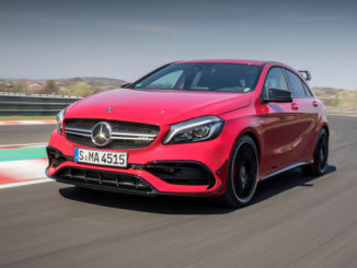 Compact Cars Fahrvorstellung in Ungarn 2017; Mercedes-AMG A45 4MATIC, jupiterrot, Leder schwarz RED CUT