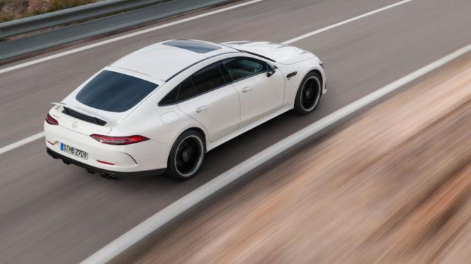 Mercedes-AMG GT 53 4MATIC+ 4-Türer Coupé, AMG Night-Paket, Exterieur: Außenfarbe: designo diamantweiß bright, Farbvariante schwarz
