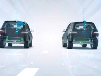 Mercedes-Benz GL-Klasse: Die optional lieferbare aktive Wankstabilisierung ACTIVE CURVE SYSTEM kompensiert den Wankwinkel des Aufbaus bei Kurvenfahrt. Dadurch steigen Agilität und Fahrspaß deutlich. Gleichzeitig erhöht das System die Fahrstabilität und damit die Sicherheit.