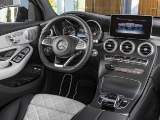 Mercedes-Benz GLC Coupé, Innenausstattung designo platinweiss/Schwarz (3/2016)