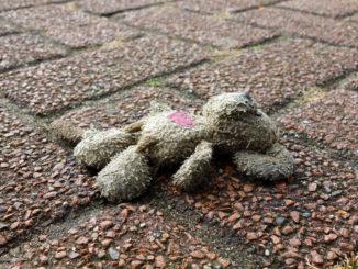 maus verloren opfer eines verkehrsunfalls tod tot Kind Stofftier