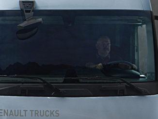 Großaufnahme eines weißen Lkw von Renault. Die Version 2019 des Renault Trucks T wurde Ende 2018 angekündigt.
