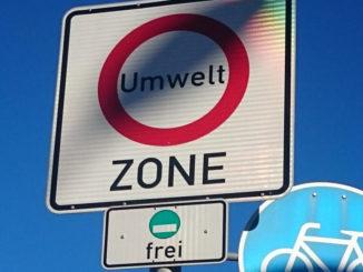 Umweltzonen-Schild in München-Untergiesing